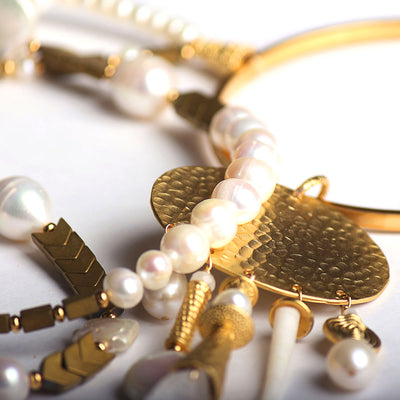 N°510 The Silent Pearl Diver Statement Necklace