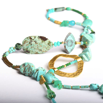 N°513 The Turquoise Lagoon Addiction Statement Necklace