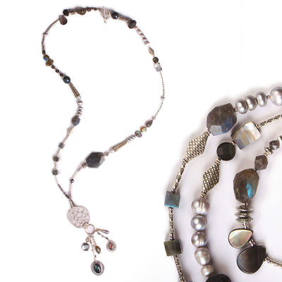 N°514 The Radiant Labradorite Thief Statement Necklace