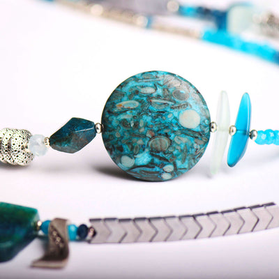 N°518 The Apatite Contagion of Optimism Statement Necklace