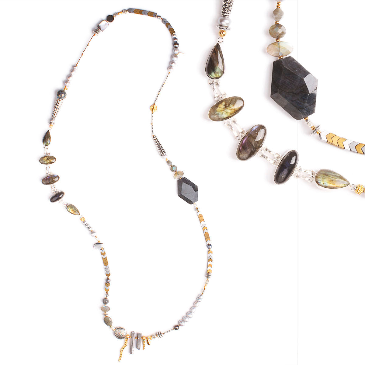 N°519 The Labradorite Soul Carrier Statement Necklace