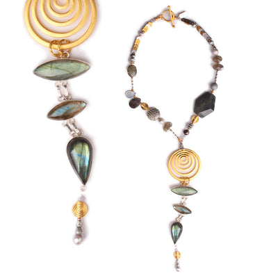 N°521 The Labradorite God of Small Things Statement Necklace