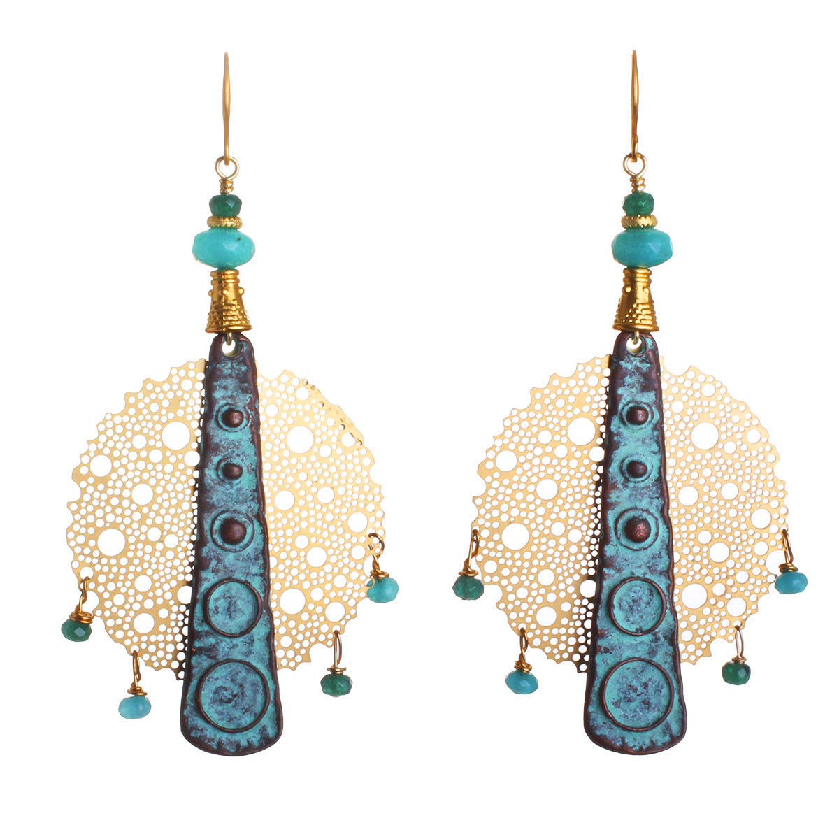 N°529 The Turquoise Lagoon Addiction Statement Earrings
