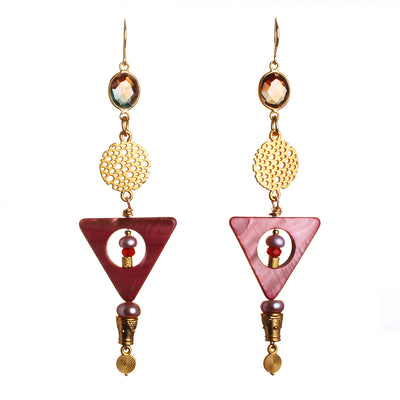 N°531 The Fabulous Society of Desert Rose Lovers Statement Earrings