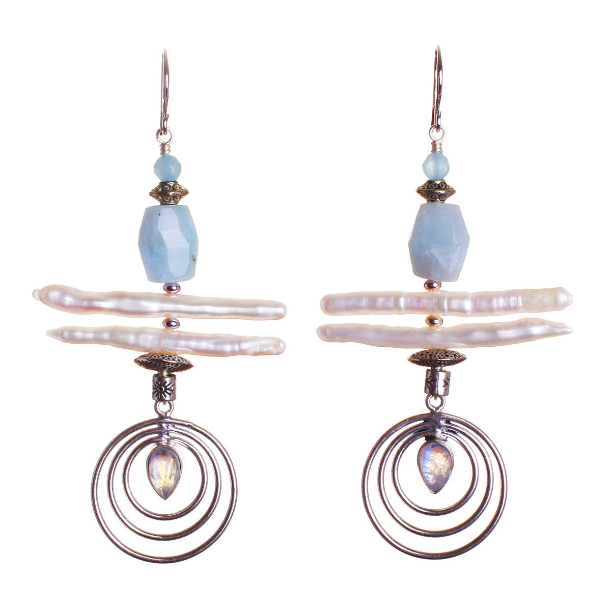 N°532 The Impeccable Moonstone Spy Statement Earrings