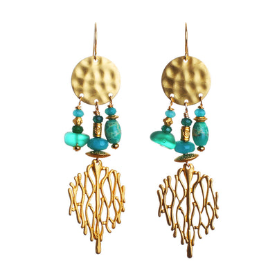 N°533 The Suspended on a Coral Reef Statement Earrings