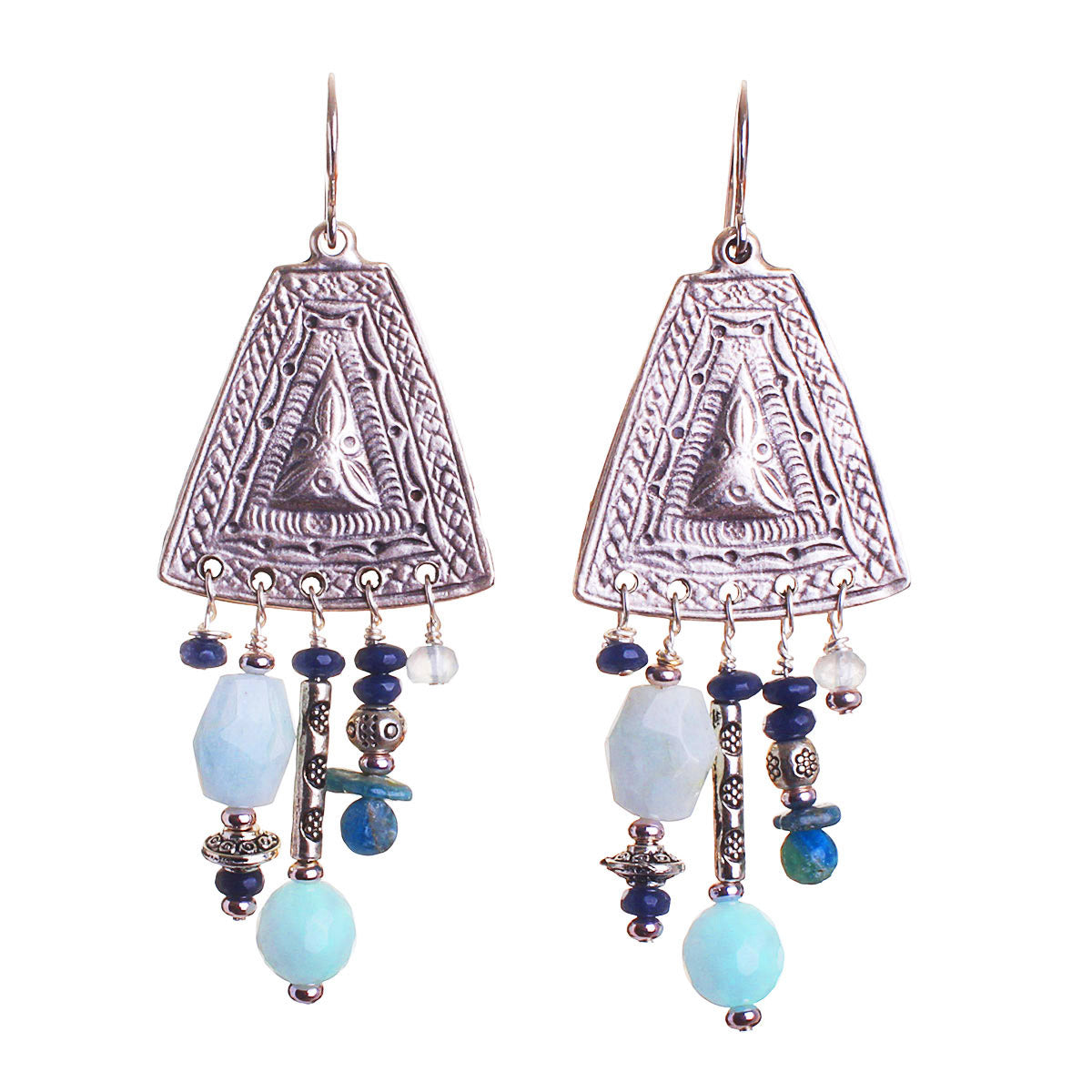 N°535 The Santa Fe Blue Bird Statement Earrings