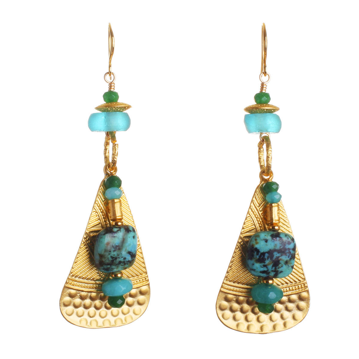 N°542 The New Rules for Turquoise Atoms & Particles Statement Earrings