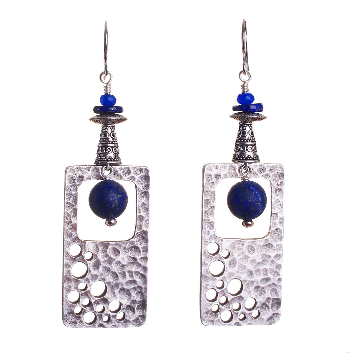 N°543 The Lapis Lazuli Simplicity Contract Statement Earrings