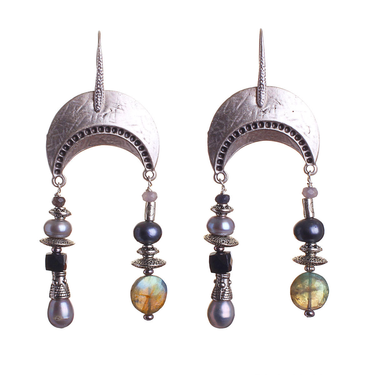 N°544 The Radiant Labradorite Thief Statement Earrings