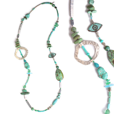 N°558 The Turquoise Lagoon Addiction Statement Necklace