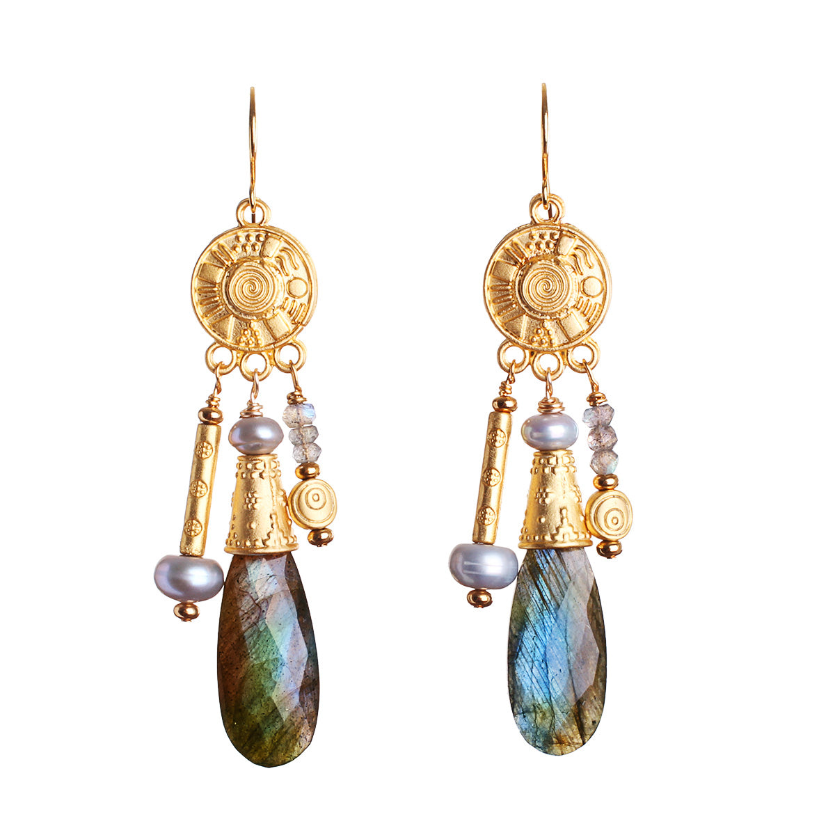 N°580 The Irresistible Impatience of Labradorite Statement Earrings