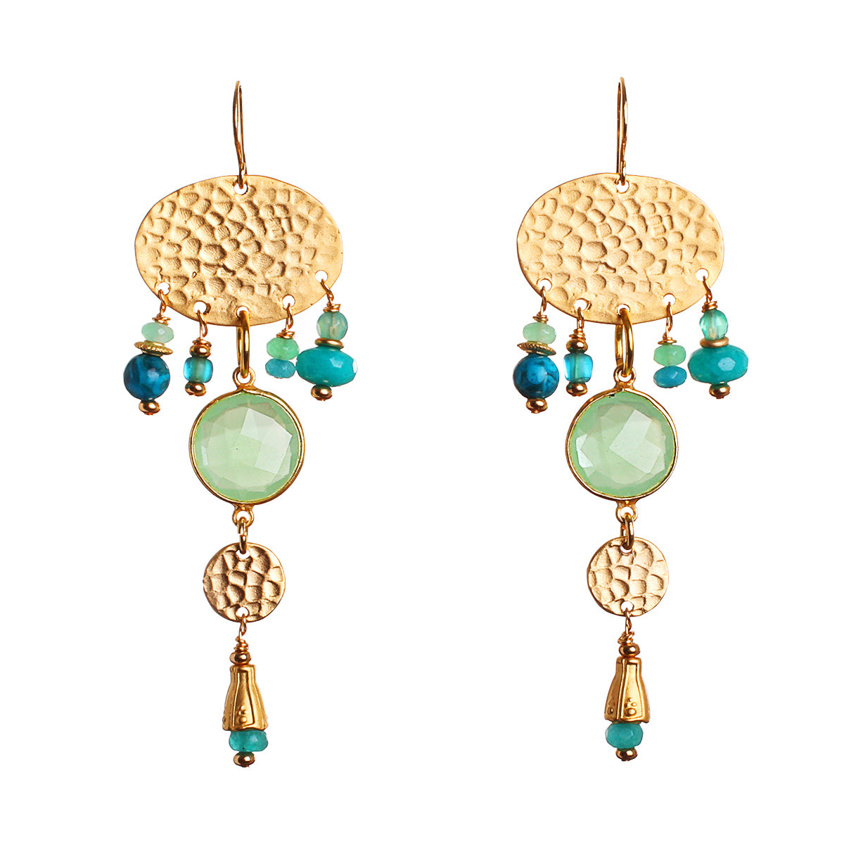 N°585 The Chalcedony 5th Dimension Statement Earrings