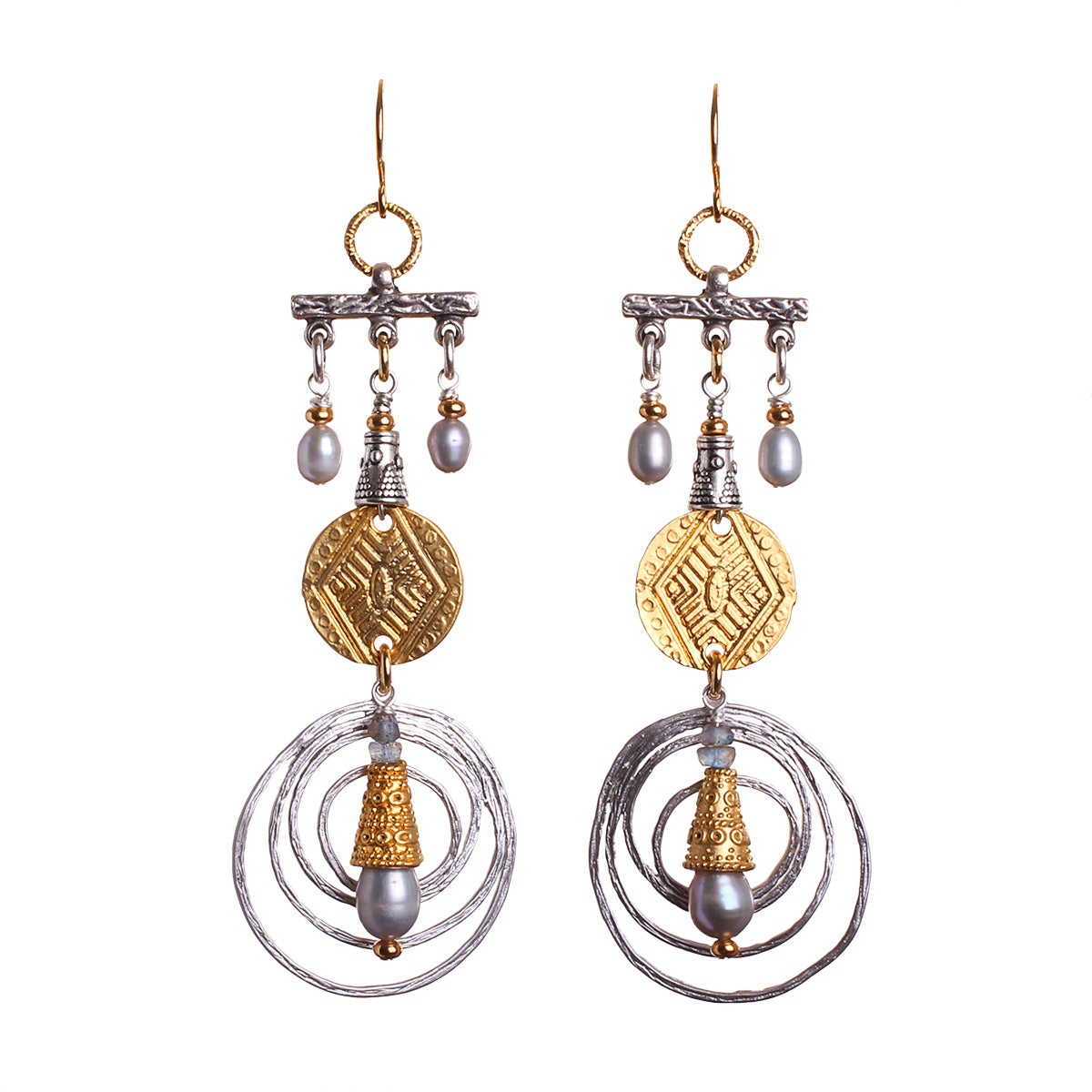 N°588 The Gentle Pearl Rebellion Statement Earrings