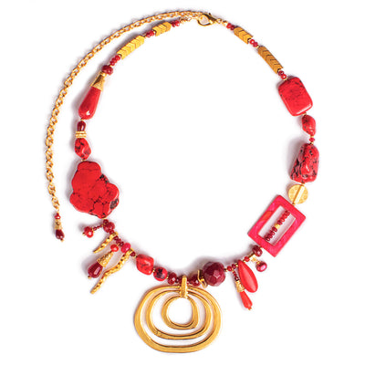 N°606 When Coral Love Arrives Statement Necklace