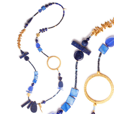 N°612 The Future is Blue Statement Necklace