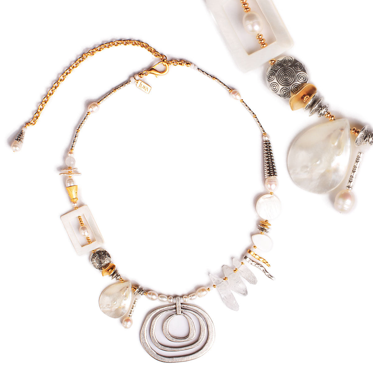 N°613 The Unexpected Pearl & Quartz Euphoria Statement Necklace