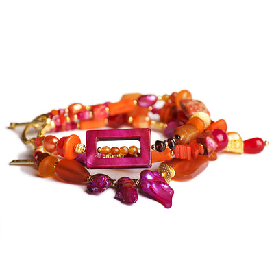 N°616 The Anemone Party Statement Bracelet