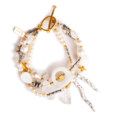 N°620 The Double Moonrise Society Statement Bracelet