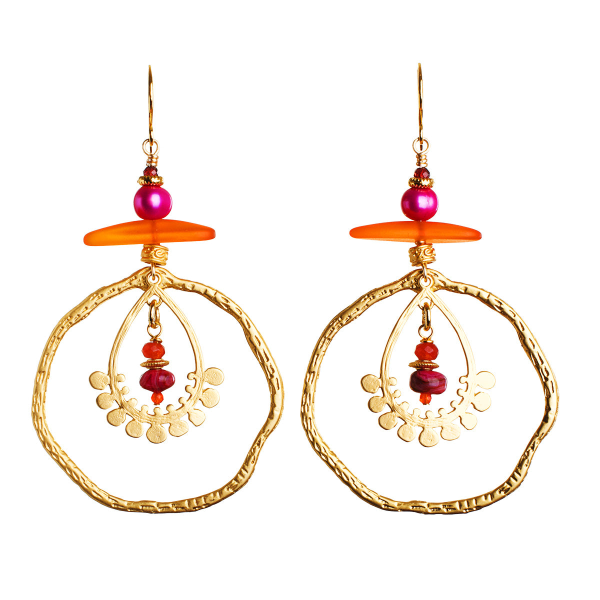 N°628 The Anemone Party Statement Earrings