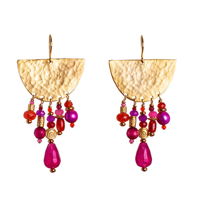 N°641 Tangerine & Watermelon Sherbet Statement Earrings