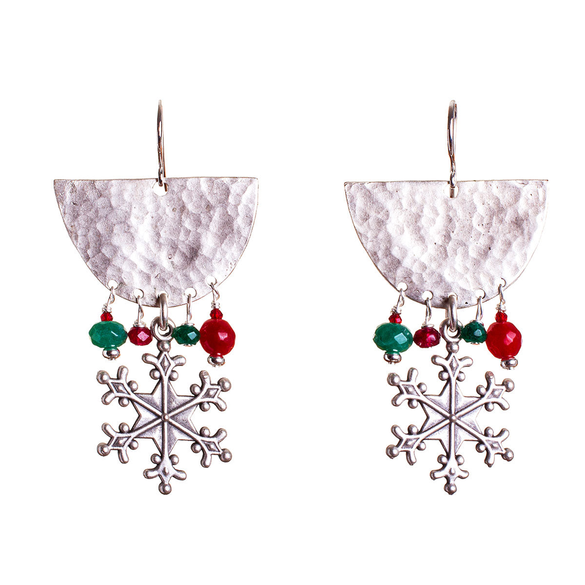 N°685 Where I grew up, Santa is a Woman Statement Earrings