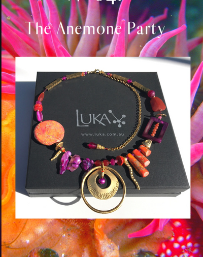 N°601 The Anemone Party Statement Necklace