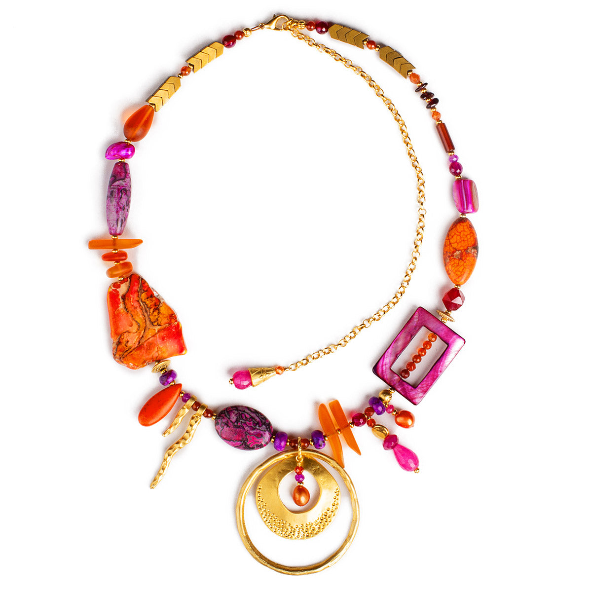 N°687 The Anemone Party 2 Statement Necklace