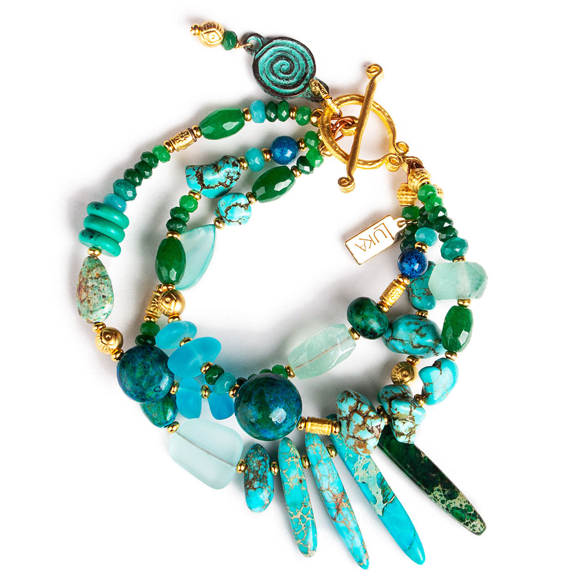 N°689 The Living Sea of Turquoise Dreams Statement Bracelet