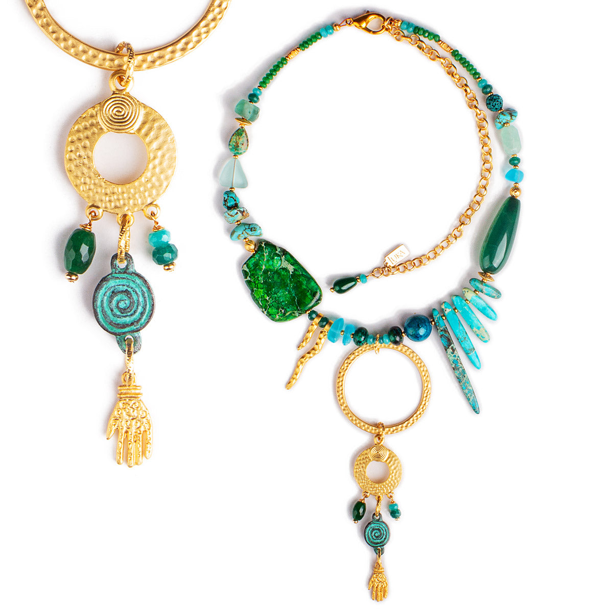N°686 The Living Sea of Turquoise Dreams Statement Necklace