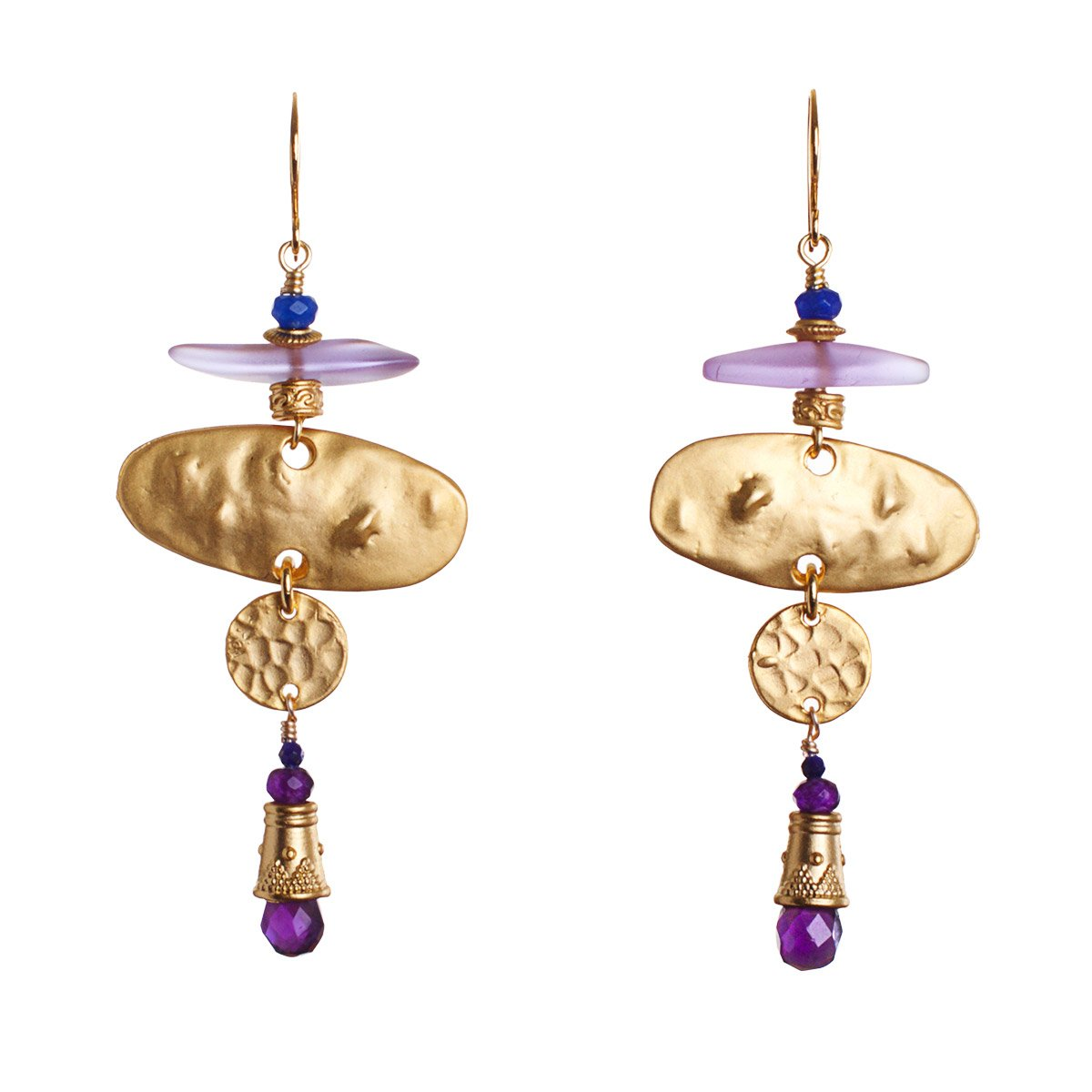 The Untold Story of the Amethyst Lovers League Statement Earrings