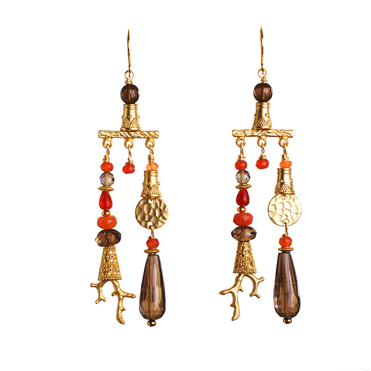 The Secret Order of Coral Lovers Statement Earrings