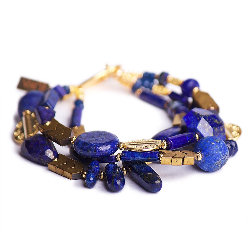 The Bold Republic of Lapis Lazuli Statement Bracelet