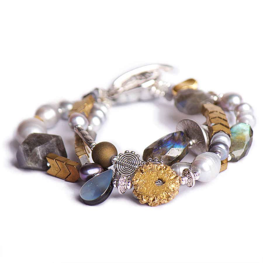 The Perfect Strangers Gold & Silver Statement Bracelet