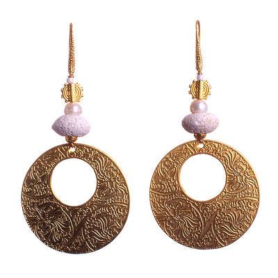 N°110 Golden Lava Sound Constellation Statement Earrings