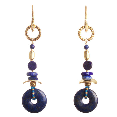 N°277 Not all that wander are lost in Lapis Lazuli Statement Earrings
