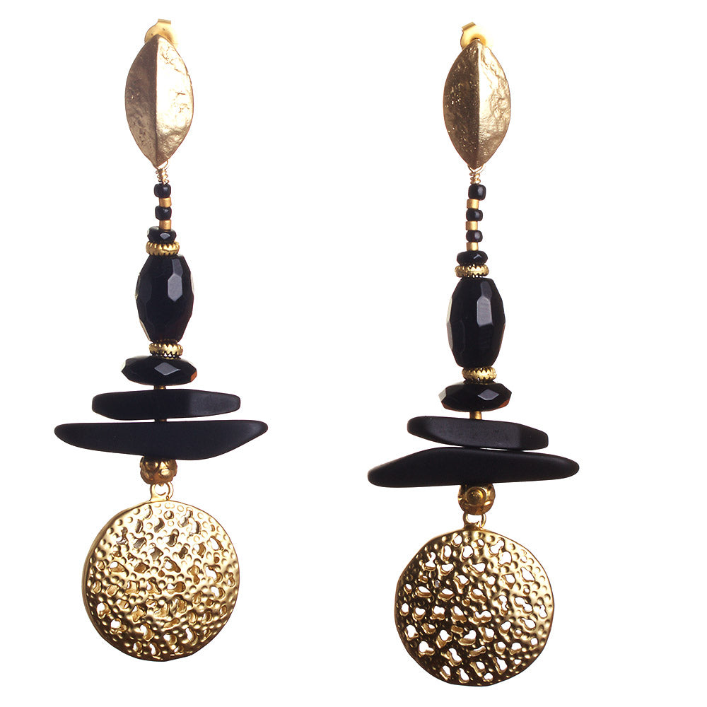 N°286 Golden Night Rider Statement Earrings