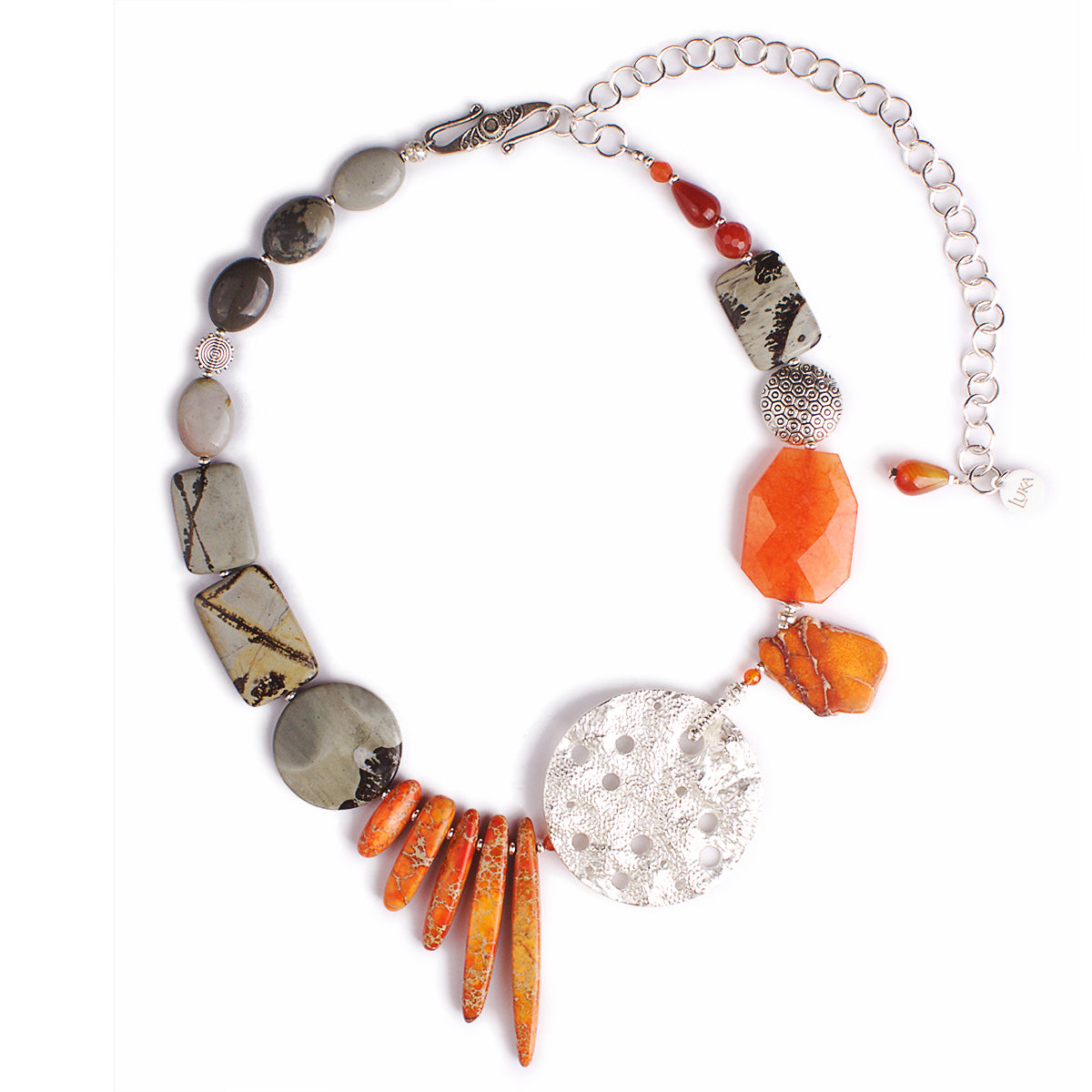 The Carnelian Rooftop Love Statement Necklace