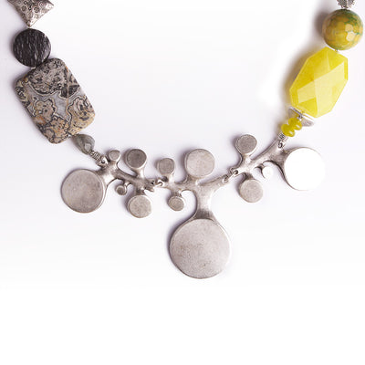 N°321 The Lemon Jade Armadillo Necklace