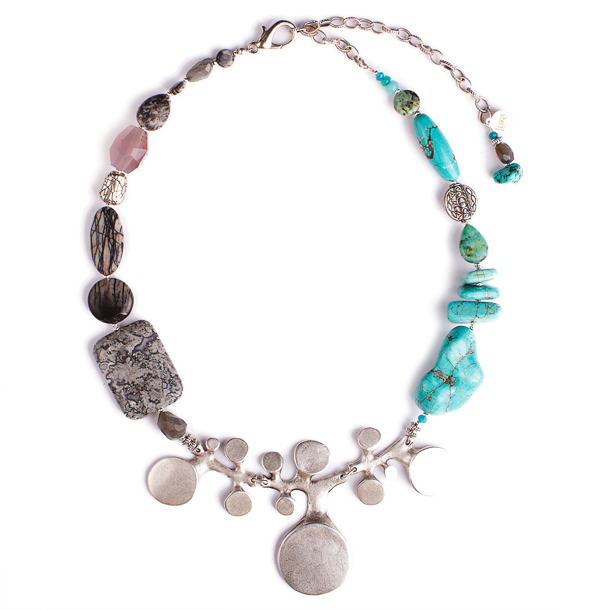 N°322 The Turquoise Wanderlust Statement Necklace