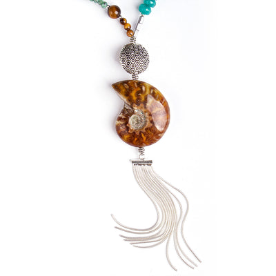 N°373 The Ammonite & Turquoise Infinity Statement Necklace