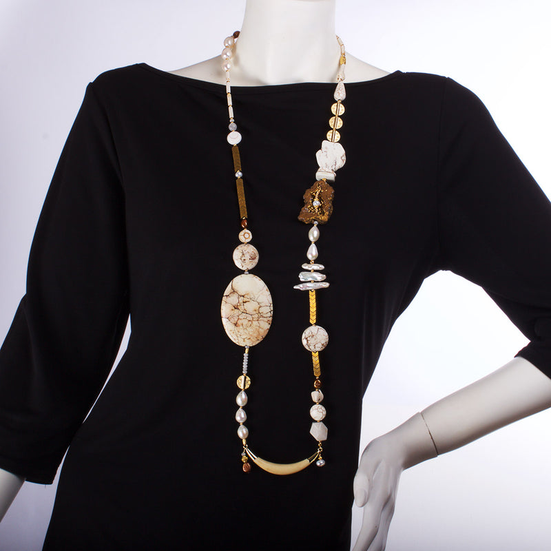 N°395 The Elegance of Africa Statement Necklace