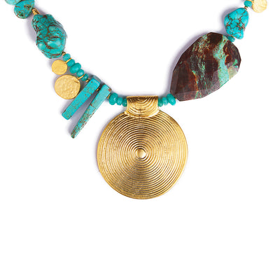 N°396 The Poetry of Oceans Turquoise Statement Necklace