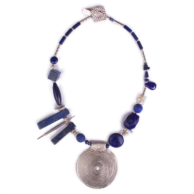 N°401 The Renegade Empire of Lapis Lazuli Statement Necklace