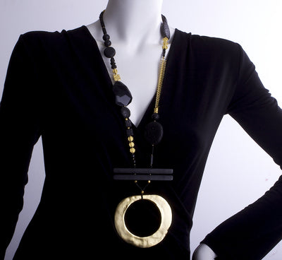 The Golden Lava Conspiracy Theory Statement Necklace