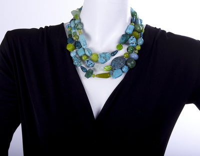 The Absinthe & Tangerine Kiss Statement Necklace