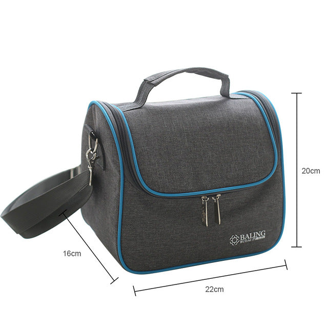 fea5434f6c1f Canvas Thermal Insulation School Lunch Bag Cooler Container Bag For Boys  Girls Teens