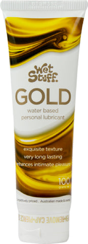 Wet Stuff Gold - Tube (100g) Lube Sex Toy Adult Orgasm
