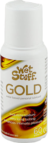 Wet Stuff Gold - Pop Top Bottle (60g) Lube Sex Toy Adult Orgasm