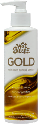 Wet Stuff Gold - Pump (270g) Lube Sex Toy Adult Orgasm